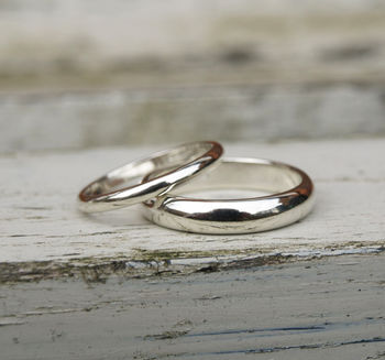 9ct White Gold Wedding Ring Set