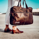 Personalised Leather Classic Holdall