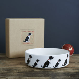 Black And White Springer Spaniel Dog Bowl - new in pets