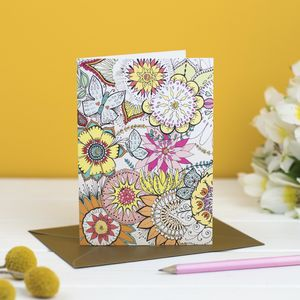 'Spring Floral' Card - cards & wrap