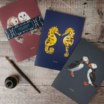 Set Of Three 'Mates For Life' Notebooks