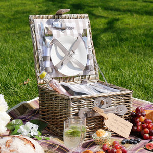 Tyburn Luxury Personalised Picnic Hamper For Two - camping