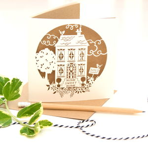 New Home Card 'Home Sweet Home' In Eco Craft - shop by category
