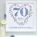 Personalised 70th, 80th, 90th Birthday Framed Print