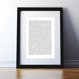 Personalised Word Search Print - gifts for him sale
