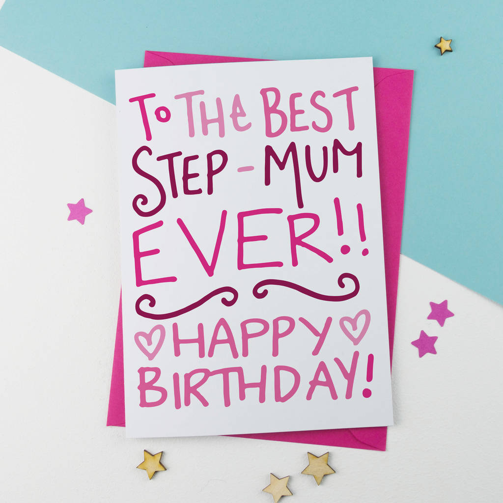Birthday Card For Step Mum