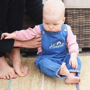 Personalised Children's Embroidered Denim Dungarees
