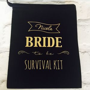 Bride To Be Survival Kit Bag - bridal beauty