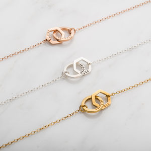 Personalised Interlinking Geometric Necklace