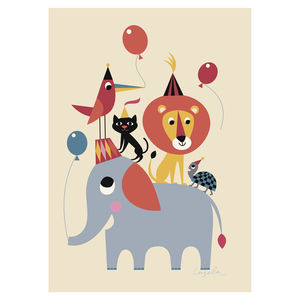 Children's Animal Party Poster