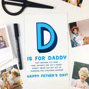 'D Is For Daddy' Personalised Funny Father's Day Card