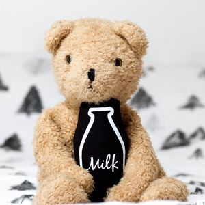Monochrome Milk Bottle Soft Toy Rattle - toys & games