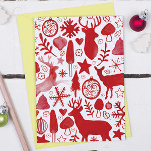 Scandinavian Christmas Card - summer sale