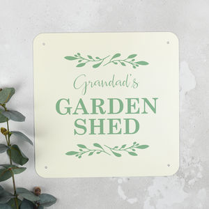 Personalised She Shed Sign For Her - new in garden