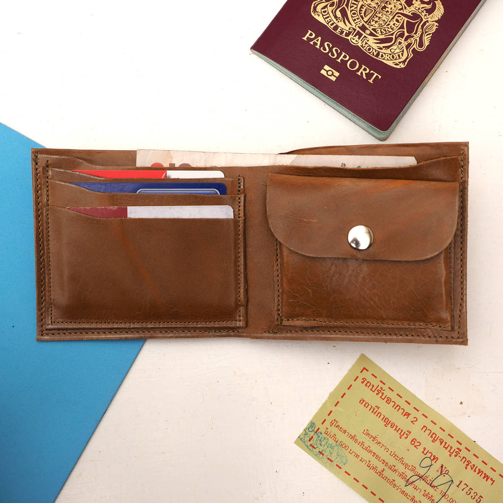 Leather travel wallet with world map by stabo notonthehighstreet leather travel wallet with world map gumiabroncs Choice Image