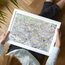 Friedrichshain Illustrated Map Print