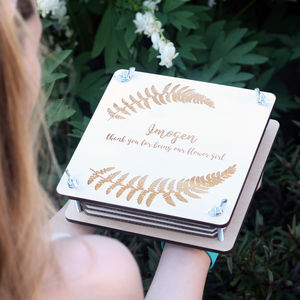 Flower Girl's Personalised Engraved Flower Press