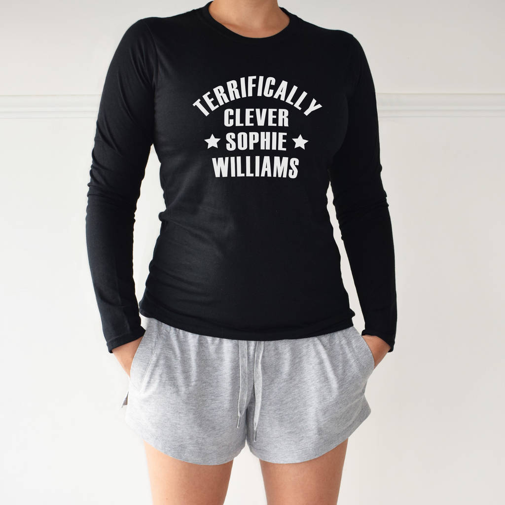Personalised Terrifically Clever Loungewear Pyjama Set