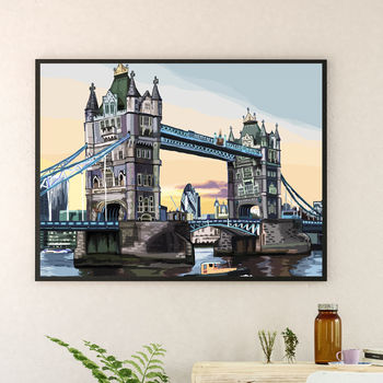 Tower Bridge, London Illustration Print