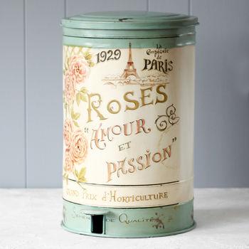 Vintage Roses Armour Pedal Bin