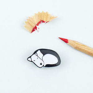 Sleeping Dog Lapel Pin - pins & brooches