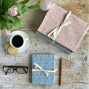 Floral Linen Covered Sketch Notebook