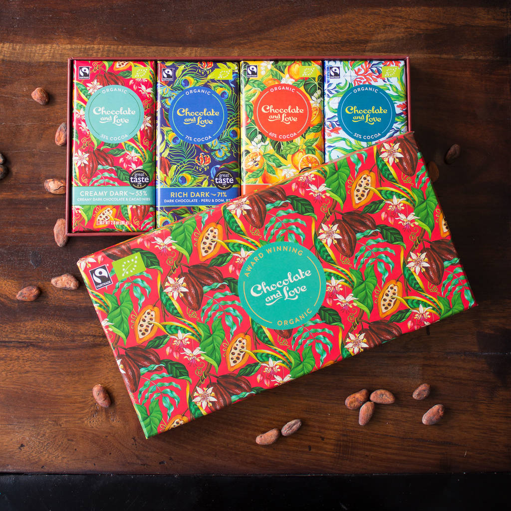 Creamy Dark Organic Fairtrade Mixed Chocolate Gift Box