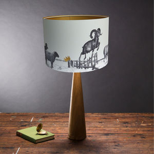 Jumping Sheep Lampshade - bedroom