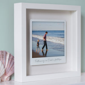 Personalised Framed Floating Metal Polaroid Photo - gifts for couples