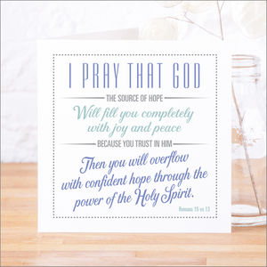 'Confident Hope' Contemporary Bible Verse Card