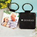 Personalised Grandad Photo Keyring