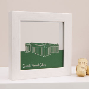 Edinburgh Scottish National Gallery Mini Papercut