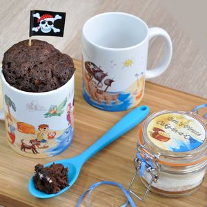 A Hoy There! Pirate Themed Chocolate Mug Cake Gift Set