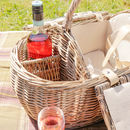 Personalised Four Person Summer Dining Boat Hamper