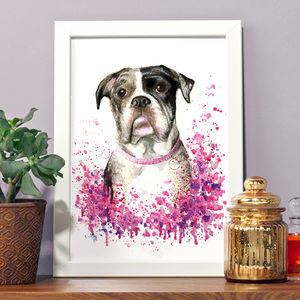 Personalised Illustrated Watercolour Pet Portrait - pet portraits
