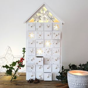 LED Snowflake Fill Your Own Advent House - advent calendars