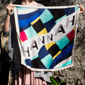 Personalised Name 'Hannah' Square Scarf - our top sale gift picks