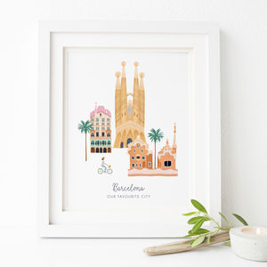 Personalised Barcelona City Print
