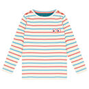 Kids Unisex Long Sleeved Stripey Rib Top