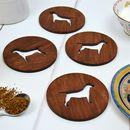 Wooden Rescue Dog Coasters
