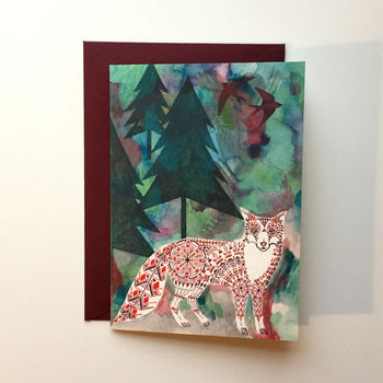 Christmas Card Fox In The Forest