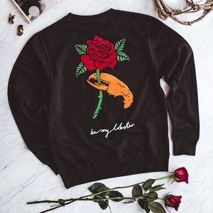 'Be My Lobster' Black Sweatshirt