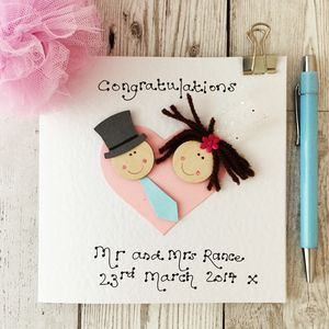 Wedding Day Dollie Card - wedding cards