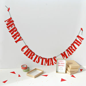 Personalised Christmas Bunting In A Box Working Title - garlands & bunting