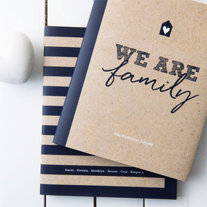 Personalised Family Scrapbook And Memory Book