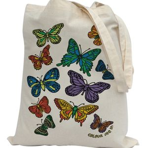 Colour In Butterflies Tote Bag