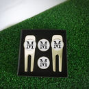 Personalised Name And Initial Couples Golf Set