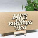 Personalised 70th Birthday Card Keepsake