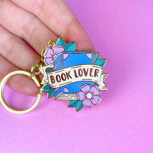 Book Lover Key Ring