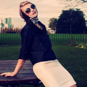 Silk Pencil Skirt In White - skirts